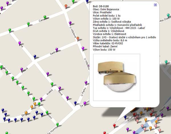 GPS pasportizace veřejného osvětlení.