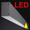PROLINE WD LED - N�st�nn� sv�tidlo t�leso hlin�kov� profil, povrch elox �edost��brn�, difuzor plast op�l, LED 1300lm/1950lm/2500lm/2600lm/3250lm/3750lm/5000lm/6250lm, 230V, IP20, 59x85mm, BEZ koncovek, sv�t� -dol�