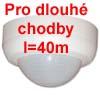 CPO-LA - Kvalitn� detektor, �idlo, senzor p��tomnosti pro osv�tlen� jednoz�nov� sp�nan� stropn�, PRO DLOUH� CHODBY a� l=40m, h=2,5m, obd�ln�kov� charakteristika 360�, 2,3kW, 15s-30min, 10-2000Lx 230V IP44 d=106mm h=69mm, i pro mal� p��kony