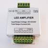 Zesilova�/opakova� pro LED RGBW (�erven�/zelen�/modr�/b�l�) osv�tlen�, nap�jen� 12-24VDC, max z�t� 4x6A, 4x72W=288W celkem p�i 12V, 110x90x40mm