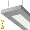 NOBODY 200 P1254 - Z�v�sn� sv�tidlo z hlin�kov�ho profilu povrch elox �edost��brn�, difuzor plast op�l mat, pro z��ivku 2x54W, G5, 230V IP20, 1327x200x36mm1282x200x36mm, v� lank. z�v 1600mm, lze zkr�tit a strop kal�ku, sv�t� nahoru/dol�