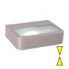 MILON H - N�st�nn� sv�tidlo, t�leso nerez, difuzor matn� sklo, pro �spornou ��rovku 1x11W, E27 2U, 230V, za�.t�.1, rozm�ry 220x160x55mm, sv�t� nahoru/dol�.