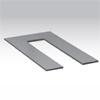 HIGHLIGHT BASE - Podstava pro stojac� sv�tidlo t�leso ocel, povrch �ern�, �edost��btn�, b�l� 500x300x8mm