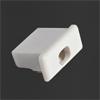 EC29 - Z�slepka s otvorem pro kabel a v��ezem pro instalaci MIKRO VYP�NA�E, pro hlin�kov� profily, materi�l plast, barva b�l�, 1ks