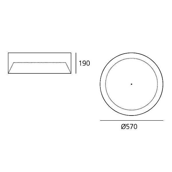 artemide tagora 570 sofitto m016717 p isazen stropn sv tidlo e. Black Bedroom Furniture Sets. Home Design Ideas