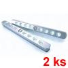 P�isazen� LED sv�tidlo LUCKYLINE, set 2 ks, se senzorem pohybu, barva matn� st��brn�, 1,8W, LED, studen� denn� b�l� 4000K, 230V, IP20, rozm�ry 210x20x17mm.