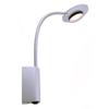 APAK 2 - N�st�nn� LED sv�tidlo bodov�, flexibiln� rameno, t�leso kov, barva matn� st��brn�, 4W, LED, tepl� b�l� 3000K, 230V, IP20, rozm�ry 29x300x35mm, s vyp�na�em.