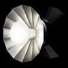 N�st�nn� sv�tlo MALI, z�kladna hlin�k, st�n�tko op�lov� sklo, 1x60W, G9, 230V, IP20, d=215mm, h=100mm