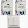 Sada 1x bateriov� vys�la� dosah cca 30m, 1x sp�nac� p�ij�ma� 230V/8A, 1x stm�vac� p�ij�ma� 230V/250VA pro bezdr�tov� ovl�d�n� osv�tlen� a el. spot�ebi��.