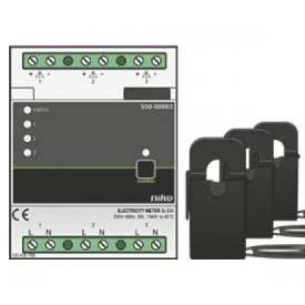 Modul m��en� spot�eby elektrick� energie 3-f�zov�, 3x230V, 3x5W-14,5kW, 3x22mA-63A, p�esnost t�.1, na DIN li�tu.