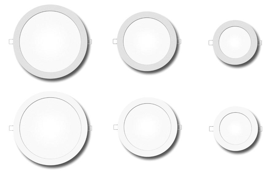 kruhové LED panely