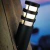 N�st�nn� sv�tlo DARWIN, z�kladna a st�n�tko kovov� �ed�/�ern�, kryc� sklo, 1x60W, E27, 230V, IP44, d=90mm, h=330mm