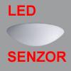 AURA 4 LED HF-SENZOR - P�isazen� sv�tidlo, HF senzor pohybu dosah 8m, z�b�r 150�, �as 5s-5min, soumrak.,z�kladna kov, povrch b�l�, difuzor sklo triplex op�l, LED 21W/37W neutr�ln� b�l� 4000K, tepl� b�l� 3000K, 230V, zv�en� kryt� IP43, d=420mm, h=125mm