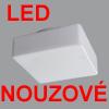LINA 2 LED NOUZOVE - Stropn� sv�tidlo, SA - b�n� i nouzov� sv�cen�, nouz sv�cen� 1W/3h, z�kladna kov, povrch b�l�, difuzor sklo triplex op�l mat, LED  neutr�ln� b�l� 4000K nebo tepl� b�l� 3000K, 230V, zv�en� kryt� IP43, rozm�ry 260x260mm, h=110mm.