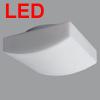 LINA 5 - P�isazen� sv�tidlo, z�kladna kov, povrch b�l�, difuzor sklo, triplex op�l mat, LED, tepl� b�l� 3000K nebo neutr�ln� b�l� 4000K, 230V, zv�en� kryt� IP43, rozm�ry 260x260mm, h=110mm, �chyt skla klapky
