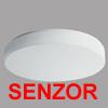 DELIA 3 HF-SENZOR - Stropn� sv�tidlo, HF senzor pohybu dosah 8m, z�b�r 150�,�as 5s-5min, soumrak., z�kladna kov, povrch b�l�, difuzor polykarbon�t nebo PMMA, ��rovka E27, z��ivka 2G10, 230V, zv�en� kryt� IP44, d=500mm, h=85mm, �chyt st�n�tka klapky