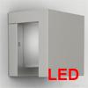 VALESA Q LED - N�st�nn� sv�tidlo, exteri�rov�, venkovn�, t�leso hlin�k, povrch b�l� / �edost��brn� / �edo�ern� antracit, difuzor sklo mat, LED 9W, tepl� b�l� 3100K, denn� b�l� 600K, 230V, IP54, za�.t�.1, rozm�ry 151x151x120mm.
