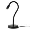 REDAKA - Stoln� lampa, t�leso kov, rameno v gomov� hadici, barva �ern�, 3W, LED, 230V/700mA, IP20, rozm�ry h=550mm, s vyp�na�em