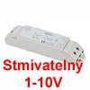 Nap�jec� zdroj pro LED zdroj konstantn�ho proudu, stm�vateln� 1-10V, 230V/350mA, 1-11W, IP20, 200x43x39mm, pro 9ks LED /1W