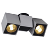 ALTRA DICE SPOT2 - P�isazen� bodov� sv�tidlo, nastaviteln� sm�r sv�cen� materi�l hlin�k, povrch kombinace �edost��brn�-�ern�, nebo b�l�/b�l�, ��rovka 2x35W, GU10 ES50, 230V, IP20, rozm�ry 225x100x70mm