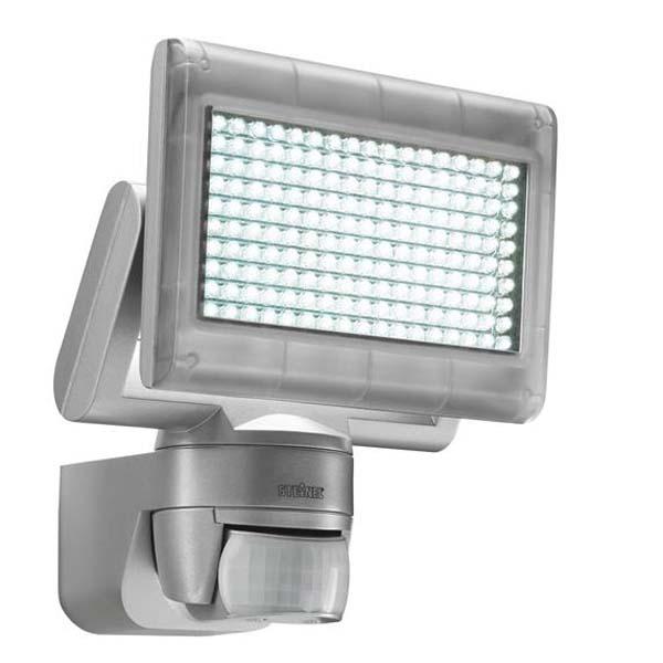 X LED HOME 1 - PIR - Venkovn� n�st�nn� reflektor se senzorem, �idlem pohybu  pohybu 180�, dosah a� 12m, �as 8s-35min soumrak 2-2000lx, t�leso plast, barva �ed�, b�l�, 12W, 198xLED, denn� b�l� 6800K, 60lm/W, 720lm, 230V, IP44, 210x175x180mm