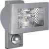 HALOPIR-500W - PIR - Venkovn� n�st�nn� halogenov� reflektor s �idlem, kov.�ed�/�ern�/b�l�, se senzorem pohybu PIR, z�b�r 180�, dosah max 12m, soumrak 2-2000lx, �as 5s-15min, 500W, R7s/114,2mm, 230V, IP44, 235x220x155mm