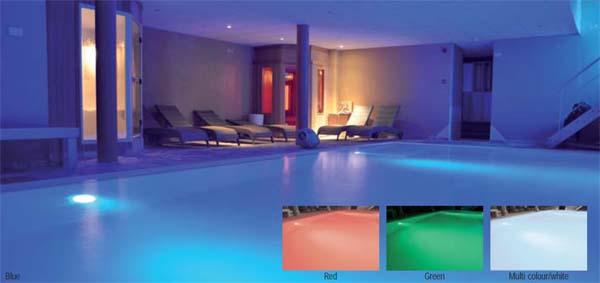 LED RGB osvětlení bazénu