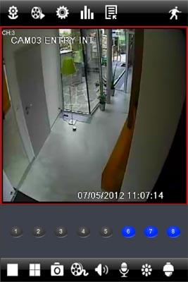 Kamerový systém v mobilním telefonu.