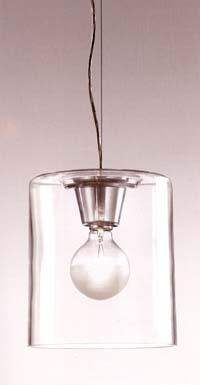 SINT - svítidlo hranolovitého tvaru z opálového skla v čirém provedení