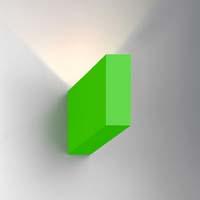 nástěnné svítidlo monolite zelené provedení