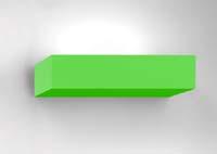 nástěnné svítidlo NET zelené provedení