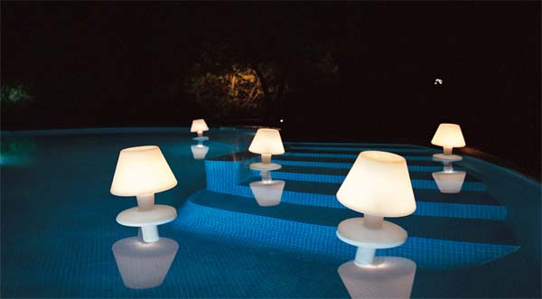 plouvoucí lampy