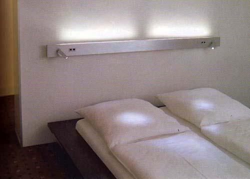 Osvětlení u lůžka v ložnici