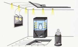 ukázka světlovodných kabelů