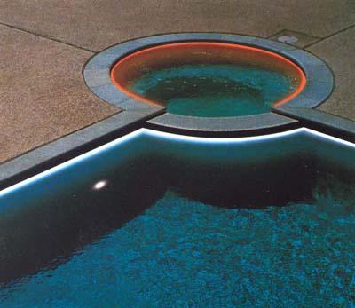 osvětlení bazénu světlovodnými kabely