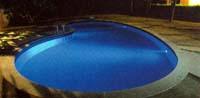 barevné osvětlení bazénu