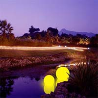 plovoucí svítidla bazénu