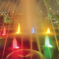 osvětlení fontán
