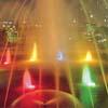 osvětlení vodní fontána